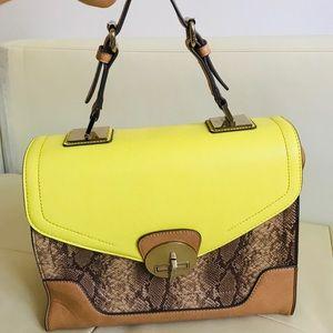 Aldo yellow purse bag